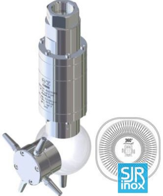 Держатели форсунок и головки с вращающимися форсунками: A300R - Очиститель емкости с гидроприводом