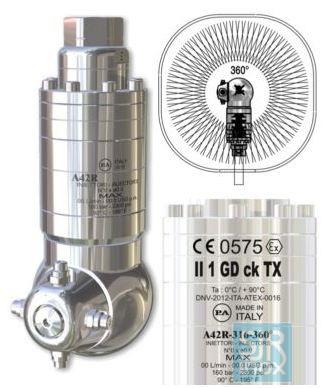 Моющая головка A42R-316 -360 с гидравлическим приводом