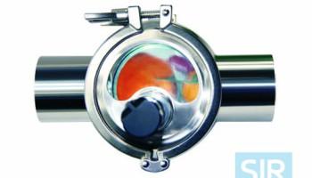 Четырехстороннее смотровое стекло для трубопроводов