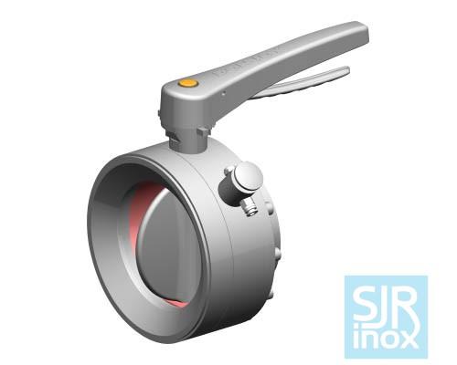 Дисковой поворотный клапан для порошковых материалов