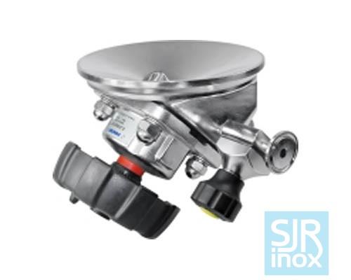 Донный мембранный клапан с пневматическим управлением