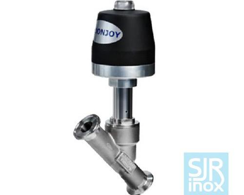 Клапан с наклонным шпинделем с пневматическим управлением