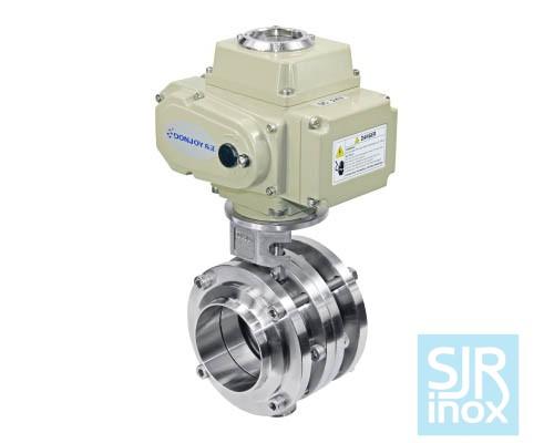 Регулирующий дисковой поворотный клапан с электрическим приводом