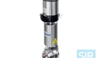 Регулирующий дисковой поворотный клапан с пневматическим управлением