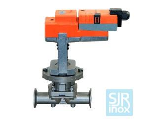 Регулирующий мембранный клапан с электрическим приводом