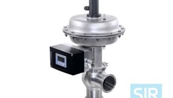 Регулирующий мембранный клапан с пневматическим управлением
