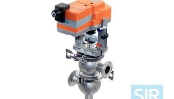 Седельный запорно-регулирующий клапан с электрическим приводом
