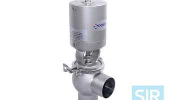 Седельный запорно-регулирующий клапан с пневматическим управлением