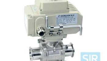 Шаровой клапан прямого действия с электрическим приводом