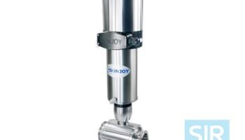 Шаровой клапан прямого действия с пневматическим управлением, с горизонтальным расположением