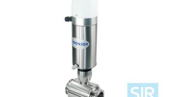 Шаровой клапан с пневматическим управлением, с блоком управления C-TOP