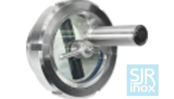 Смотровое стекло для трубопроводов с зеркальной лампой из нержавеющей стали
