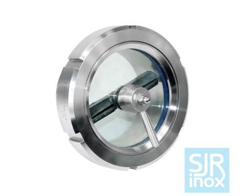 Смотровое стекло для трубопроводов со стеклоочистителем